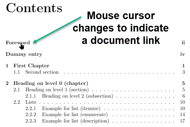 Example hyerref document