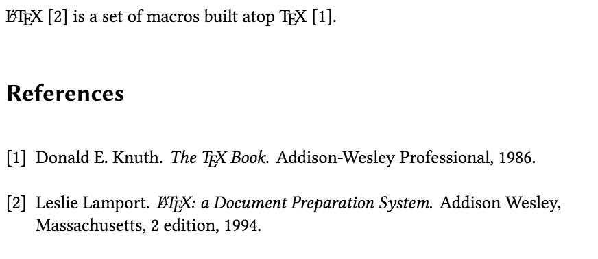 BibTeX output with plain bibliography style