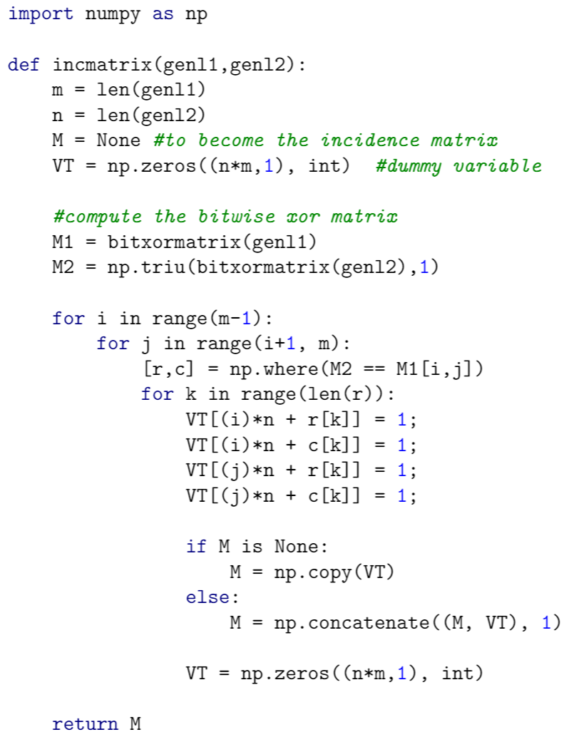 Output of the minted package using the borland stylesheet