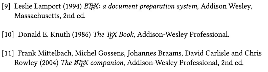 thebibliography with a label that's too short