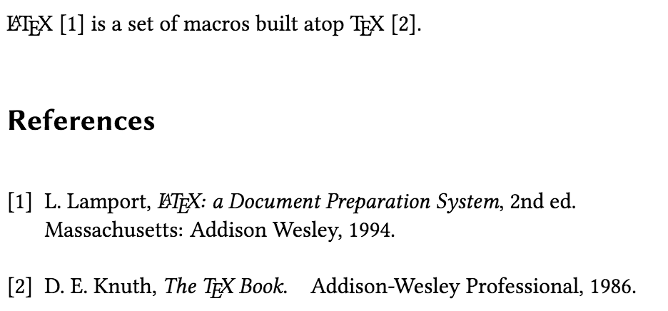 IEEEtran bibliography style output