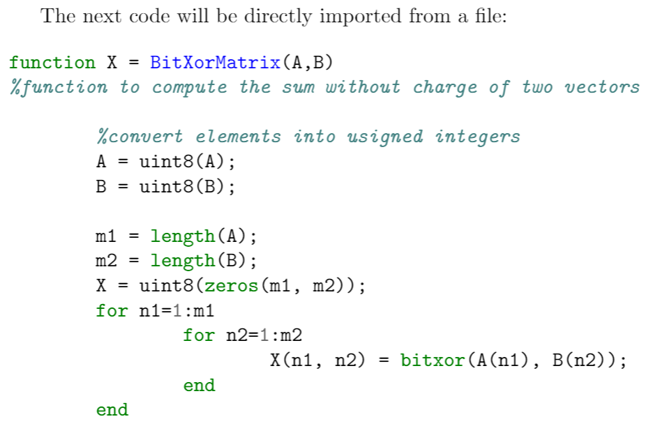 Using minted to import a code file